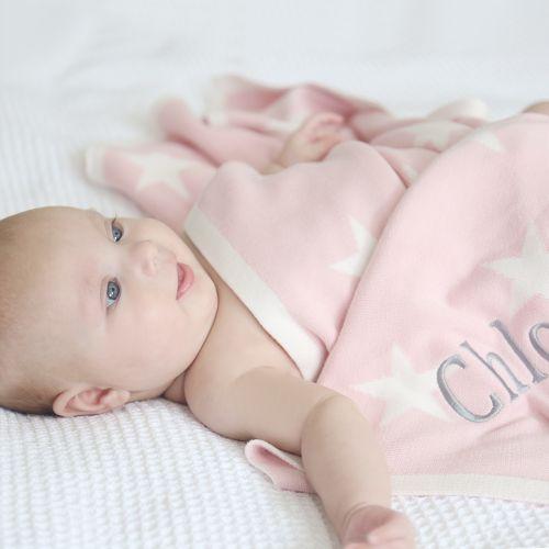Personalised Pink Star Blanket