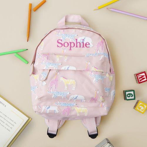 Personalized Safari Animal Print Mini Backpack