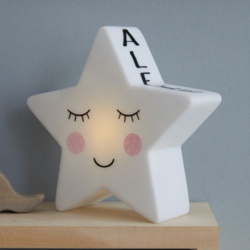 Personalized White Star Night Light