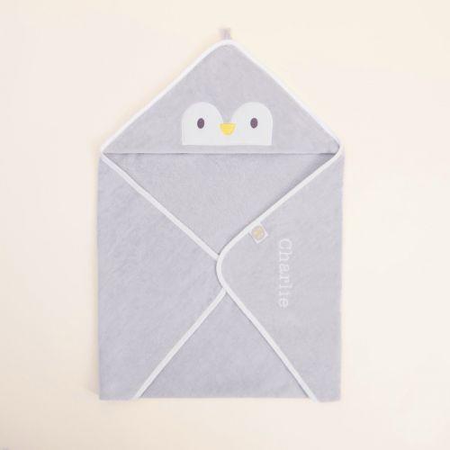 Personalised Penguin Hooded Towel