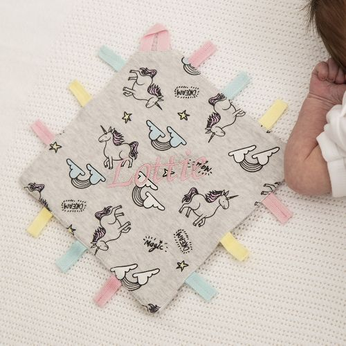 Personalised Unicorn Print Tag Style Comforter