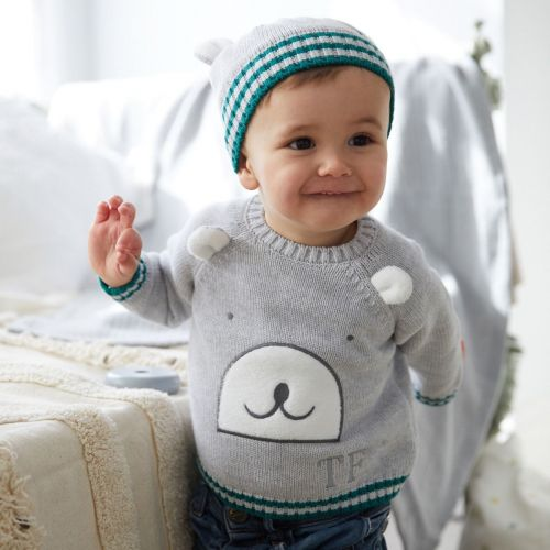Personalized Gray Bear Jumper