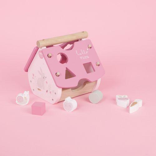 Personalised Pink Woodland Animal Shape Sorter