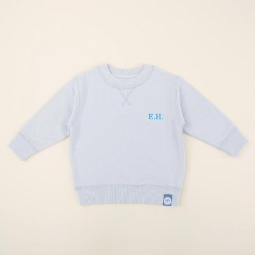 Personalized Blue Jersey Sweatshirt