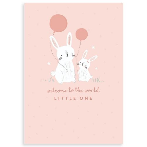 Personalised Bunny Design New Baby Greetings Card