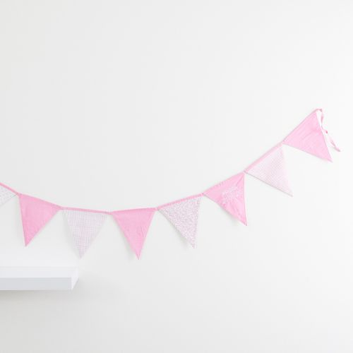 Personalized Pink Patchwork Bunting