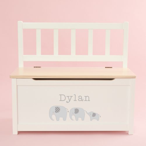 Personalised Elephant Design Toy Bench