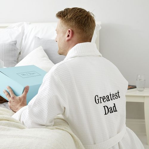 Personalized Greatest Dad/Grandad Waffle Robe