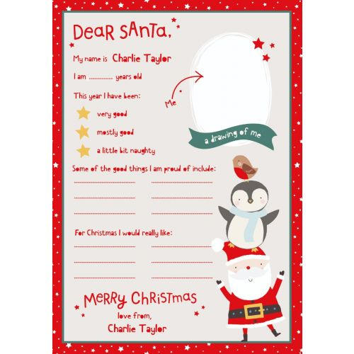 Personalised Letter To Santa