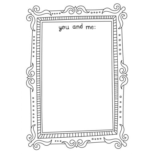 Personalised 'You And Me' Thank You Colouring Card