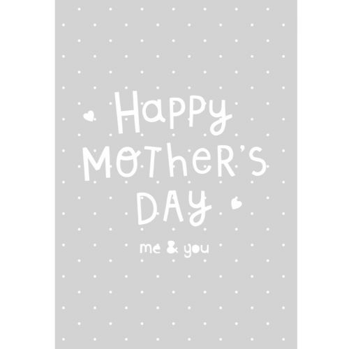 Personalised Grey 1st Mother's Day Greetings Card