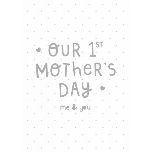 Personalised Grey and White 1st Mother's Day Card