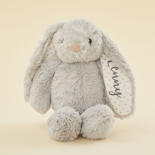 Personalised Grey Bunny Soft Toy