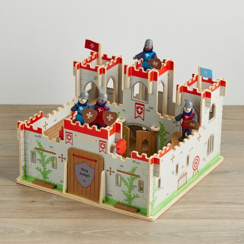 Personalised Wooden Knights Castle with Figures