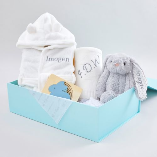 Personalised Snuggle & Play Bunny Gift Set