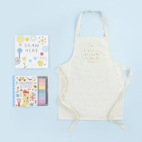 Personalised Children's Crafting Apron & Activity Book Gift Set