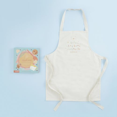 Personalised Children's Crafting Apron & Recipe Book Gift Set