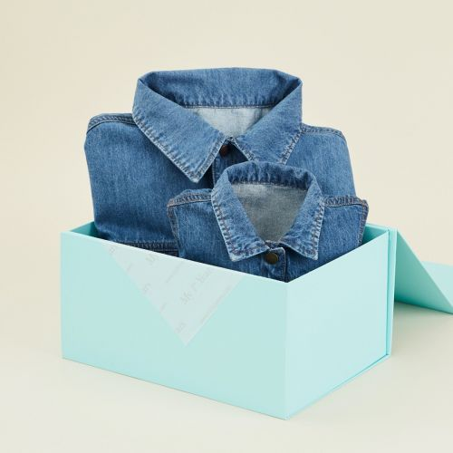 Personalised You & Me Matching Blue Denim Jacket Set