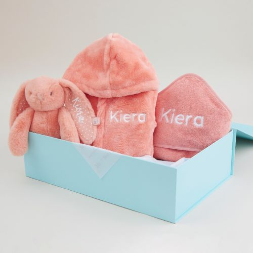 Personalised Coral Splash, Snuggle & Cuddle Gift Set