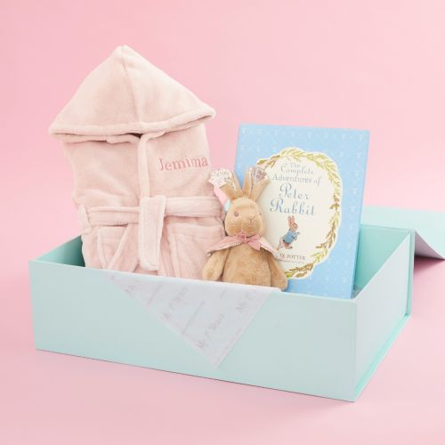 Personalised Flopsy Bunny Read, Play & Snuggle Gift Set