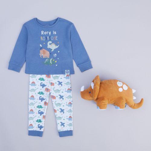 Personalised Little Dino Glow in the Dark Bedtime Set