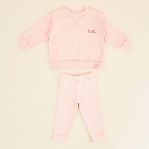 Personalised Pink Jersey Outfit Set