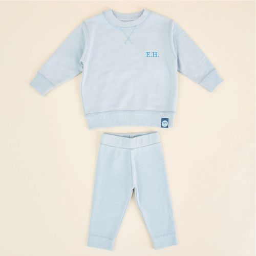 Personalised Blue Jersey Outfit Set
