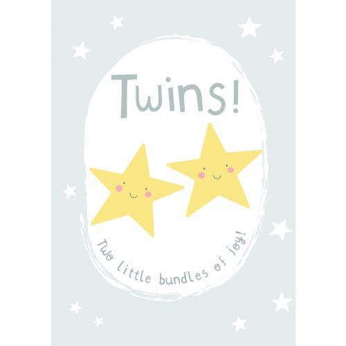 Personalised New Baby Twins Greetings Card