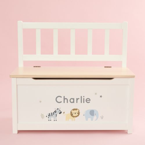 Personalised Jungle Design Toy Bench