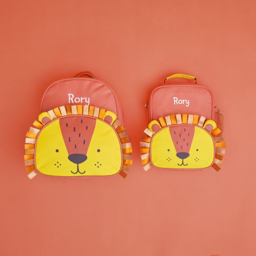 Personalised Little Lion 1st Day of School Set