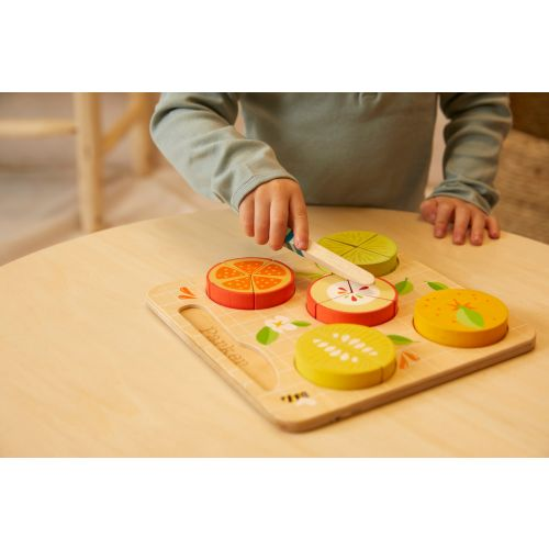 Personalised Tenderleaf Wooden Citrus Fraction Puzzle Toy
