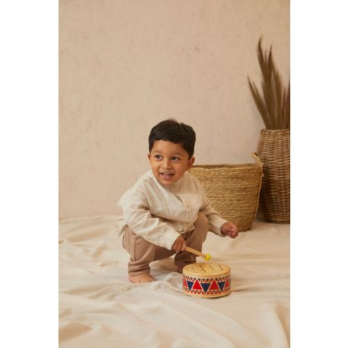 Personalized Plan Toys Wooden Drum Toy