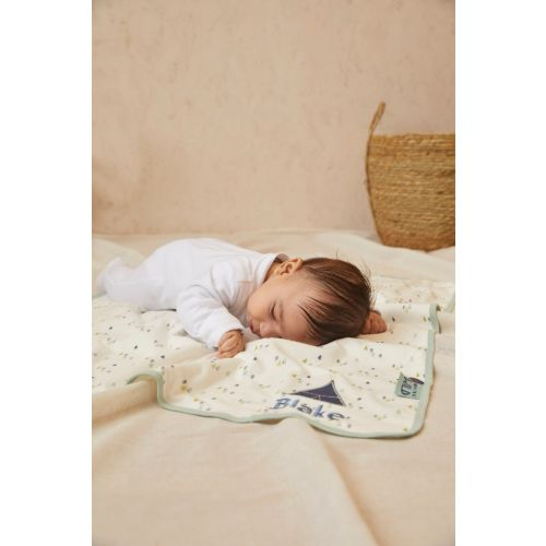 Personalised Forest Print Organic Jersey Blanket