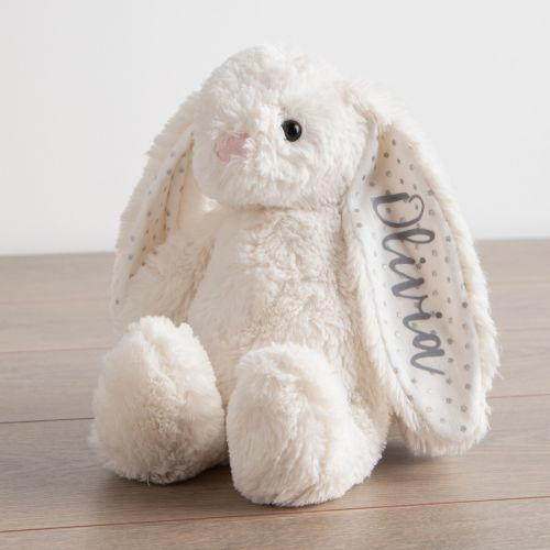 Personalized White Bunny Stuffed Animal
