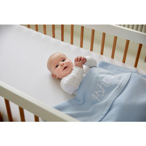 Personalized Blue Cellular Blanket