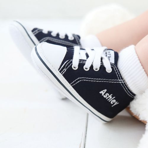 Personalized Navy Blue High Tops Sneakers