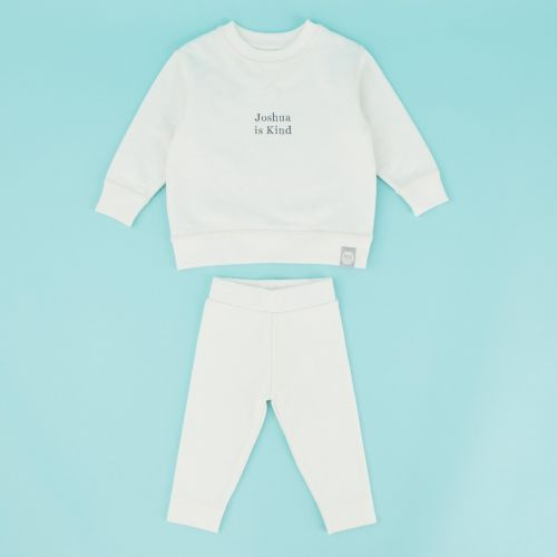 Personalised Ivory Slogan Outfit Set