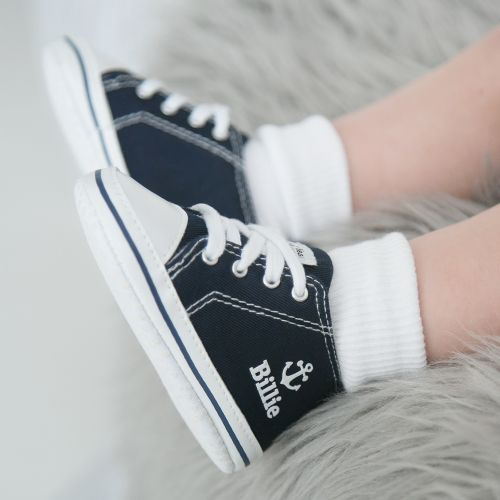 Personalized Anchor High Tops - Navy