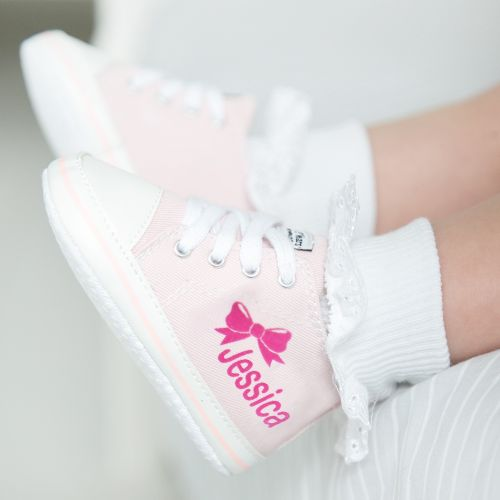 Personalized Bow High Tops