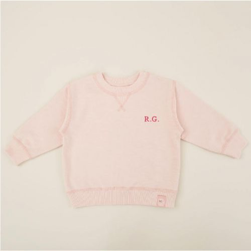 Personalised Pink Jersey Sweatshirt