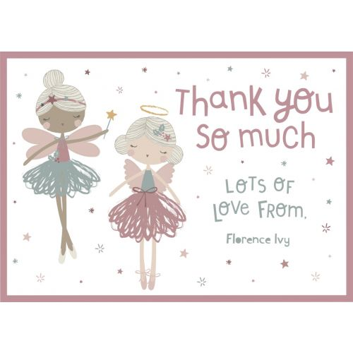 Personalised Pink Christmas Design 'Thank You' Postcards (Pack of 12)