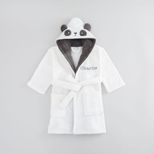 Personalized Monochrome Panda Robe