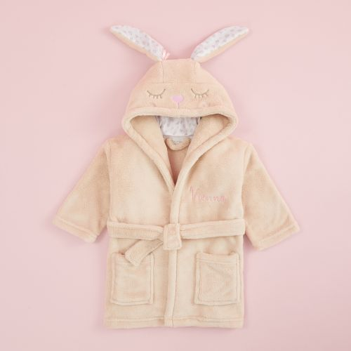 Personalised Bunny Robe Flat