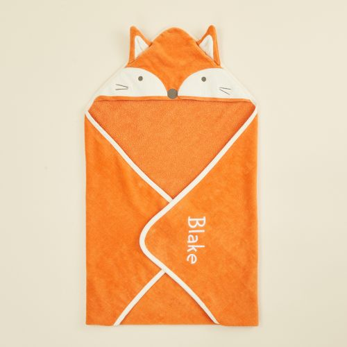 Personalized Fox Hooded Towel