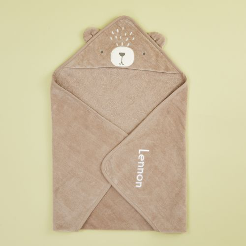 Personalised Bear Hooded Towel