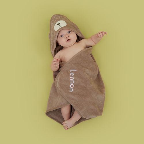 Personalized Bear Hooded Towel Model