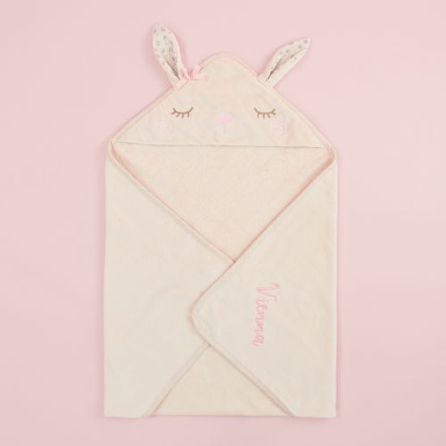 Personalized Bunny Hooded Towel