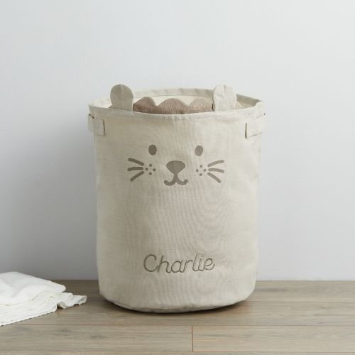 Personalized Taupe Lion Storage Bag