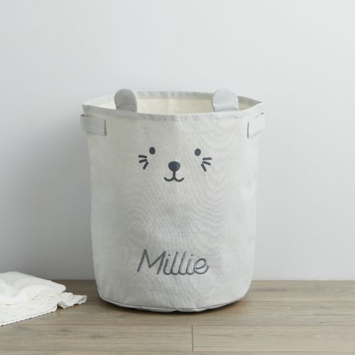 Personalized Gray Mouse Storage Bag
