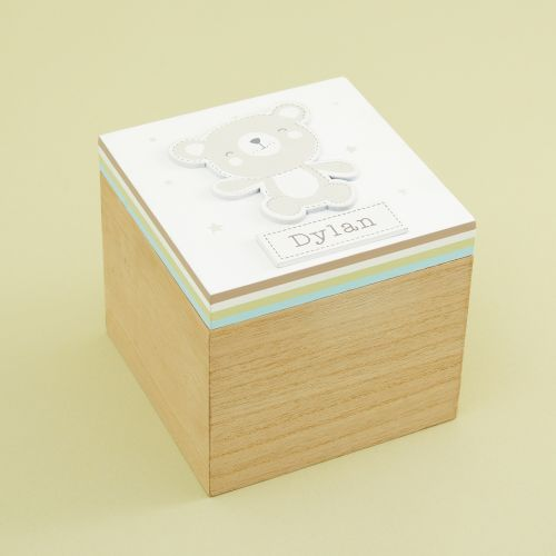 Personalised Bear Mini Keepsake Box